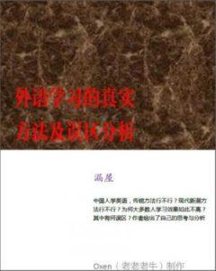 《外语学习的真实方法及误区分析(精制)》漏屋-epub